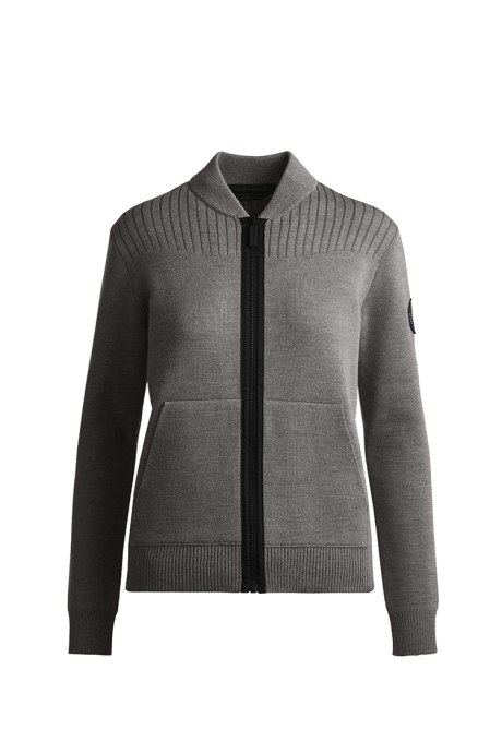 Shop the women's Lennox Knit Bomber Black Label
