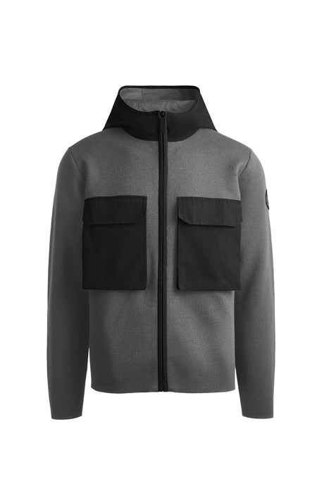 Shop the men's Elgin Full Zip Sweater Black Label