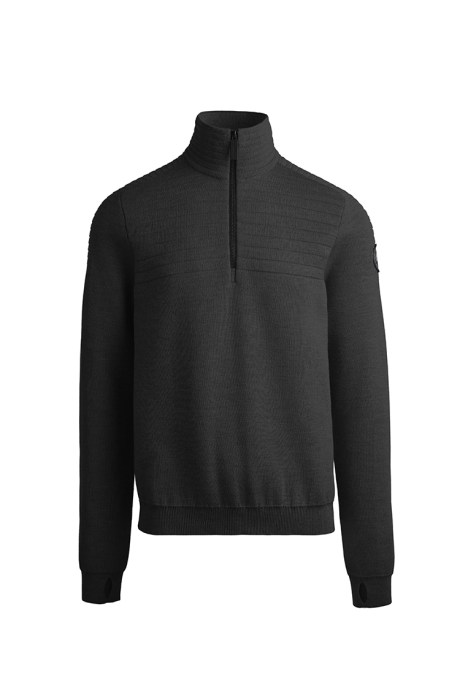 Shop the men's Clarke ¼ Zip Sweater Black Label
