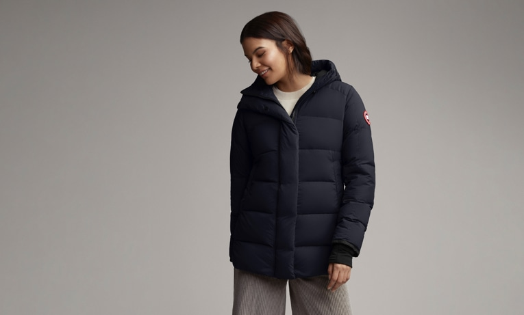 Canada Goose Women Shop - Navy Alliston Down Puffer Jacket