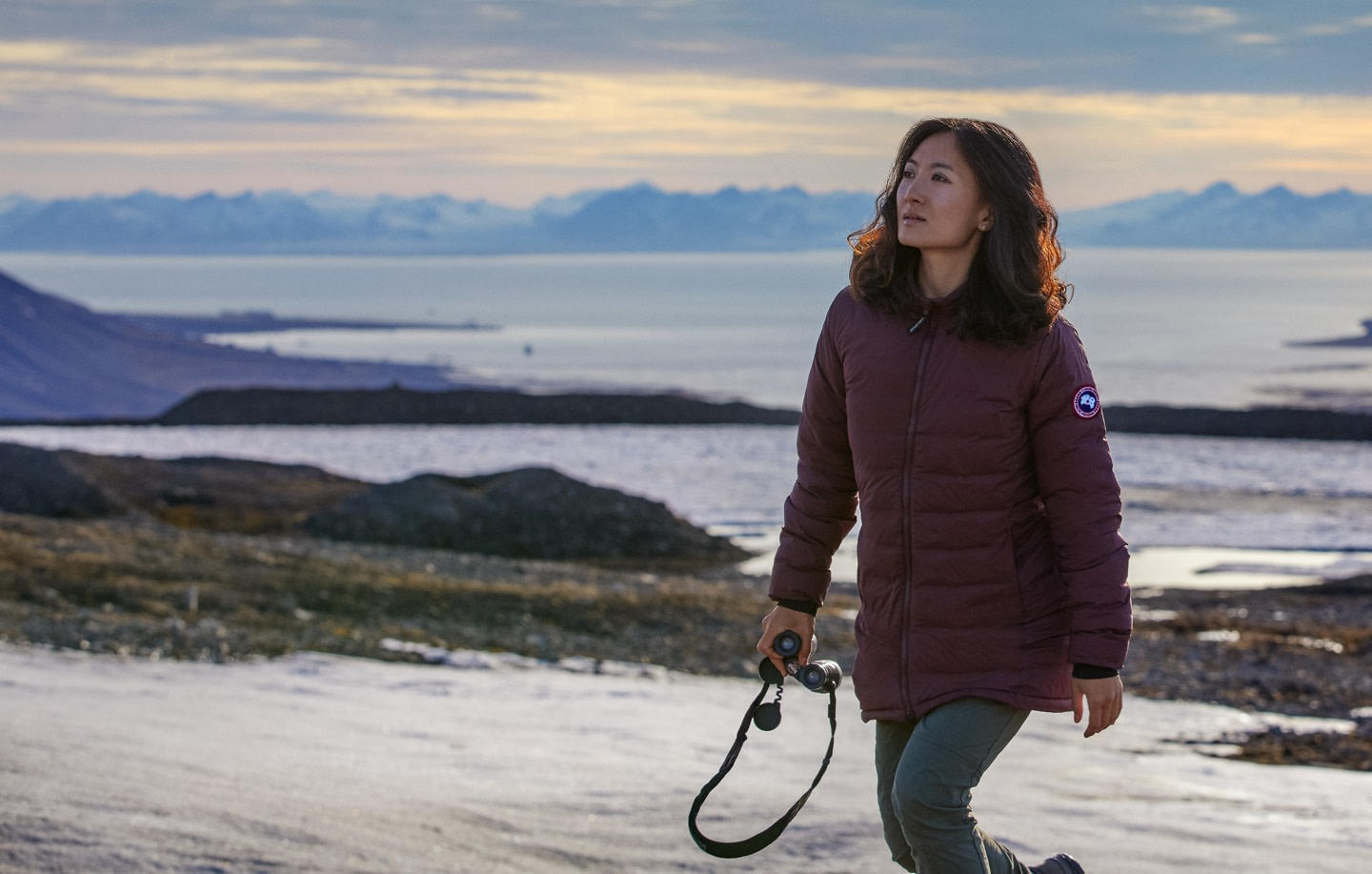 Expedition guide Jiayi Zhao wears the Camp Jacket