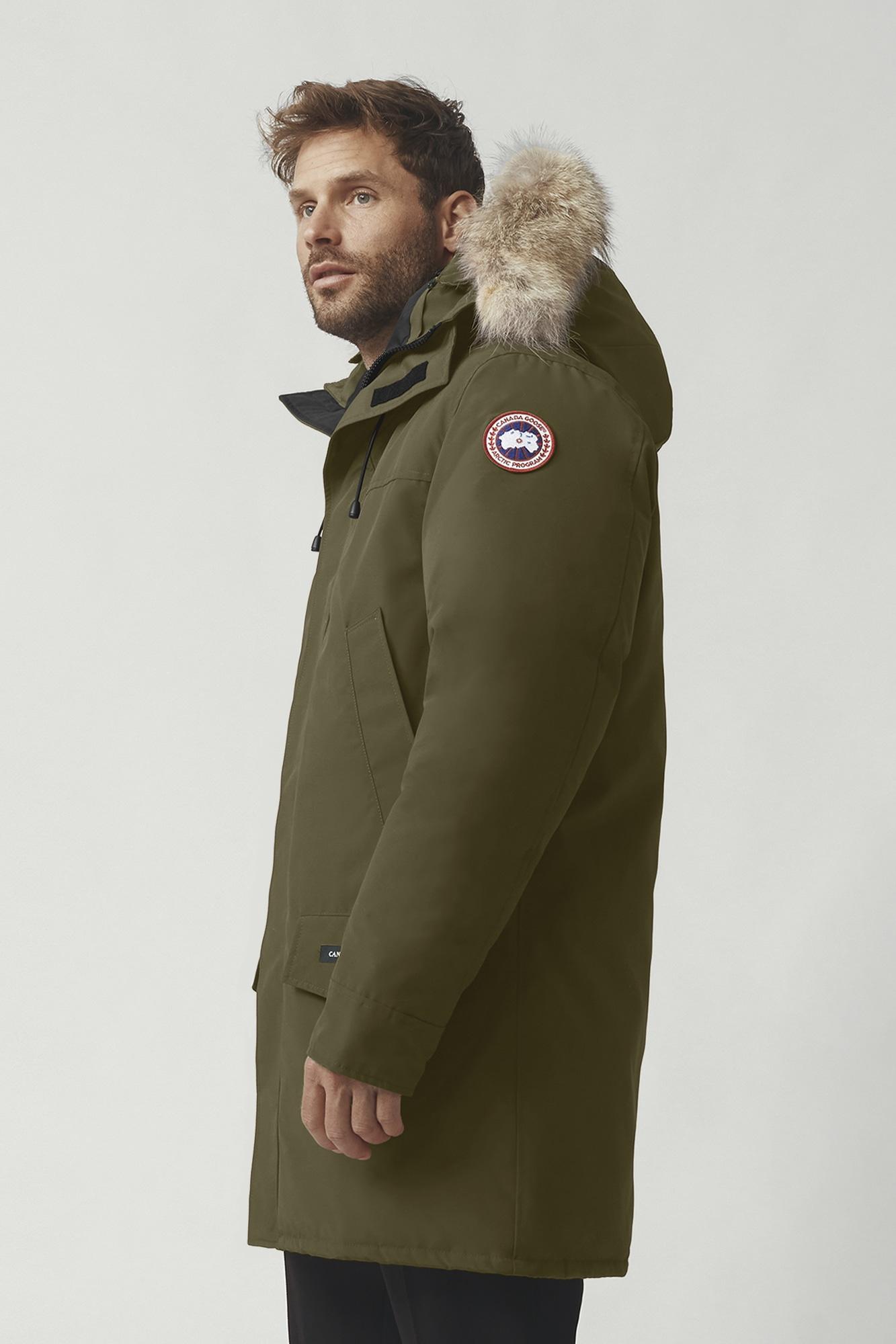 Canada Goose logo hooded puffer jacket - Azul