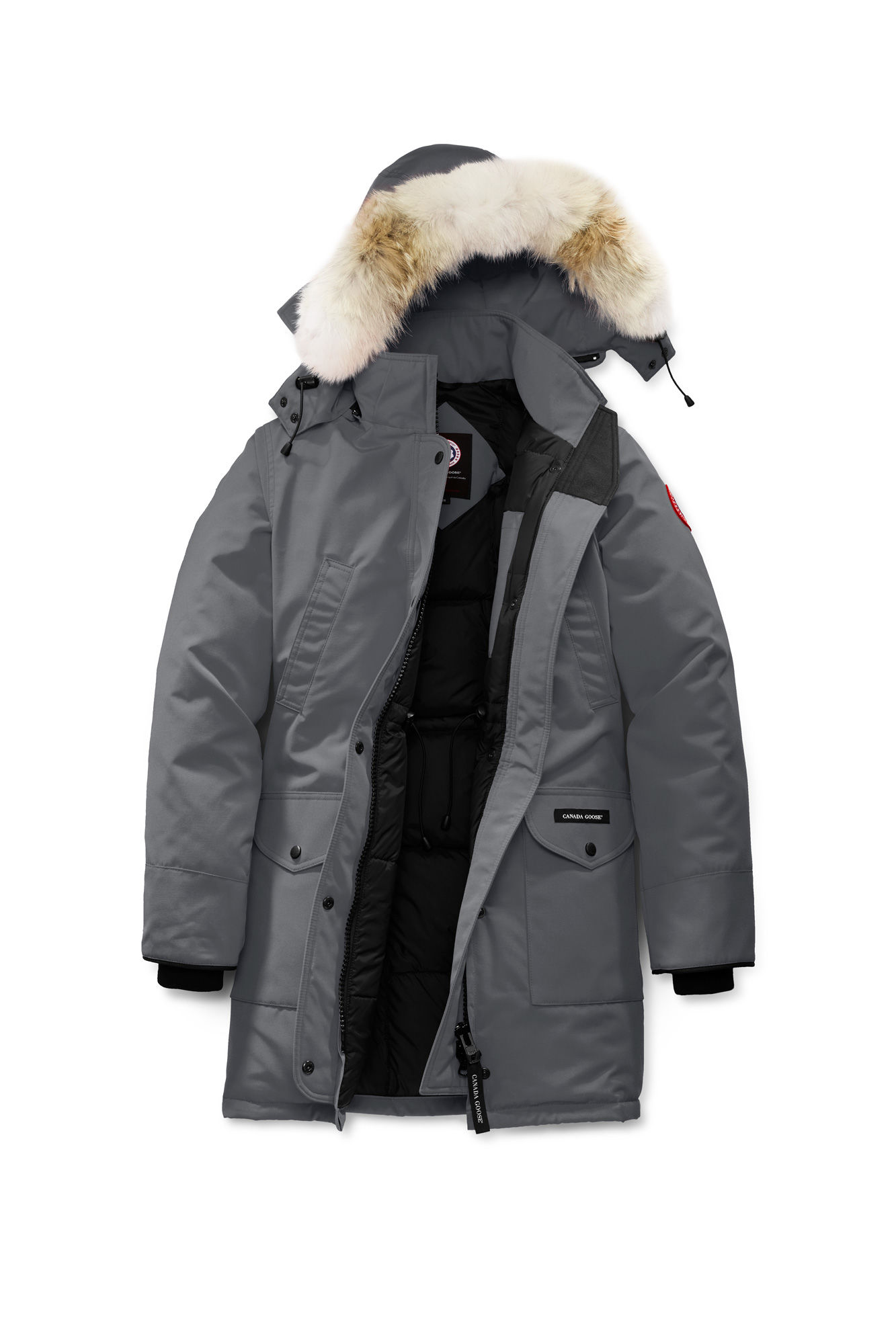 Clothing, Shoes & Accessories Learned New Canada Goose Langford Down Parka Genuine Coyote Fur Trim Sz M Brown