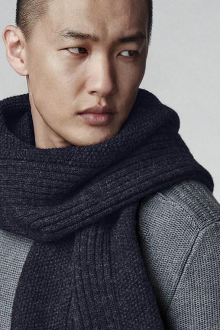Écharpe en tricot texturé