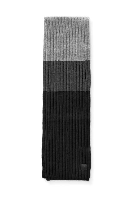 Écharpe en tricot côtelé