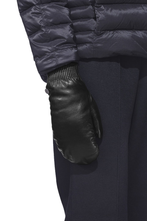 Women's Leather Rib Luxe Mitts | Canada Goose