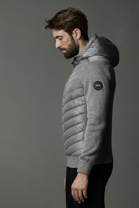 Men's HyBridge Quilted Knit Hoody Black Label | Canada Goose