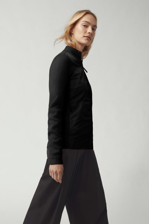 Women's WindBridge Full Zip Sweater Black Label | Canada Goose