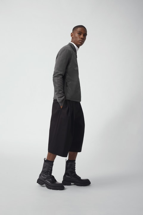 Men's WindBridge Full Zip Sweater Black Label | Canada Goose