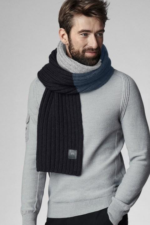 Écharpe en tricot côtelé pour homme | Canada Goose