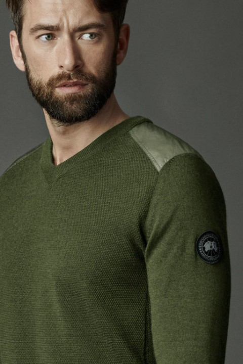 Men's McLeod V Neck Sweater Black Label | Canada Goose