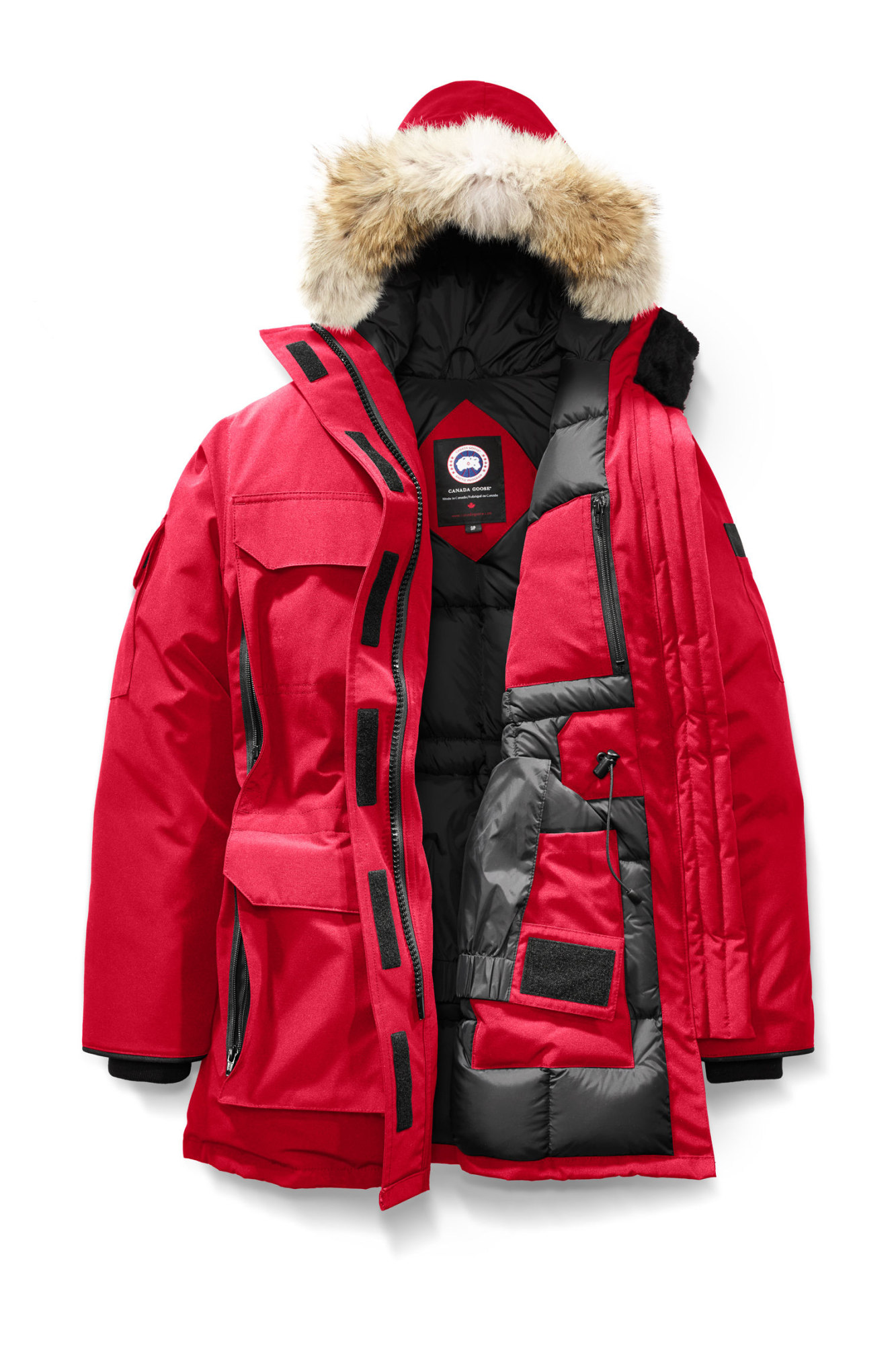 Authentic Canada Goose Expedition Parka 4565l Red Womens