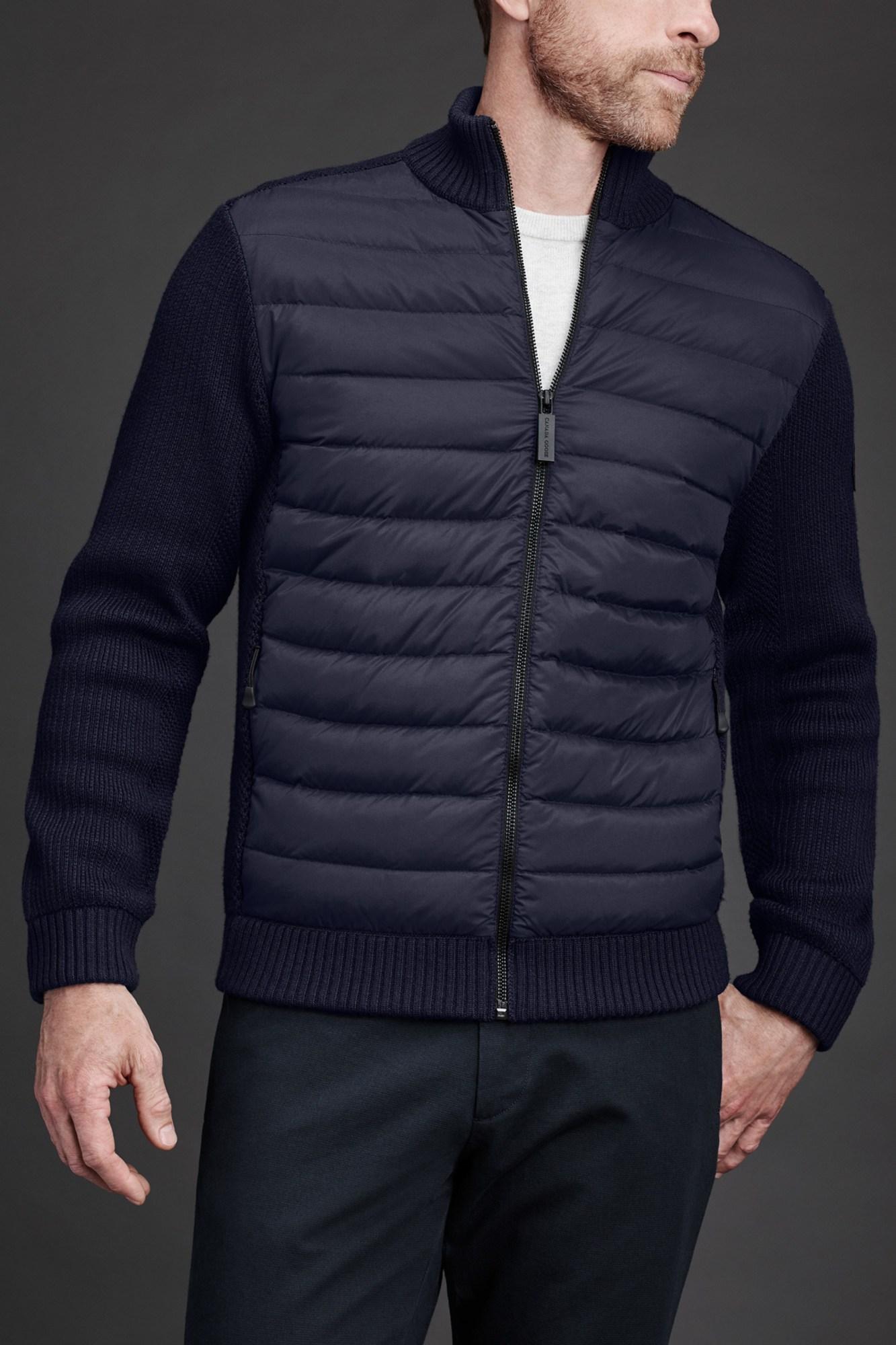 Herren Knitted Hybrid Jacke graffite 46