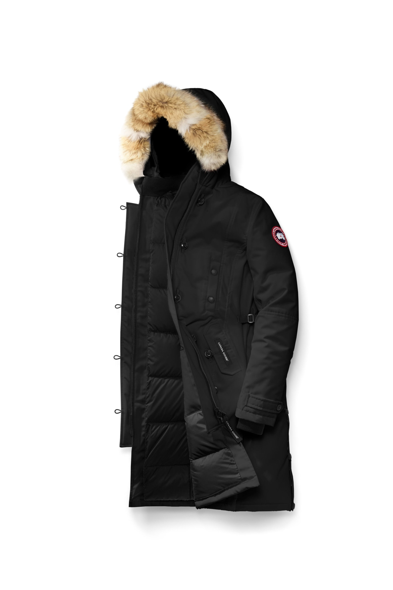 Goose Down Parka With Fur Hood
