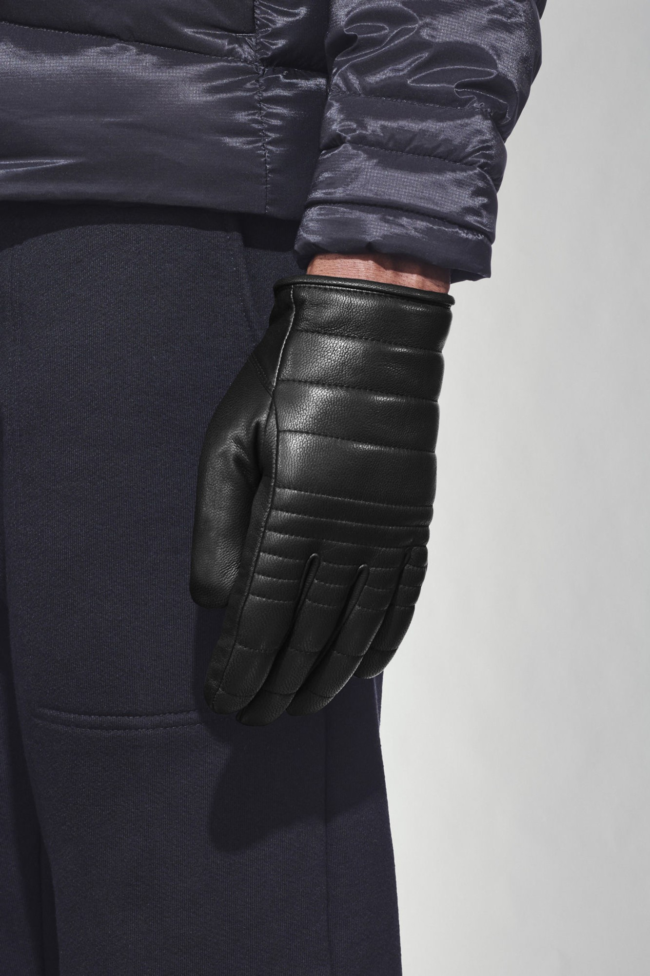Canada Goose Ladies Leather Rib Luxe Glove Handschuhe