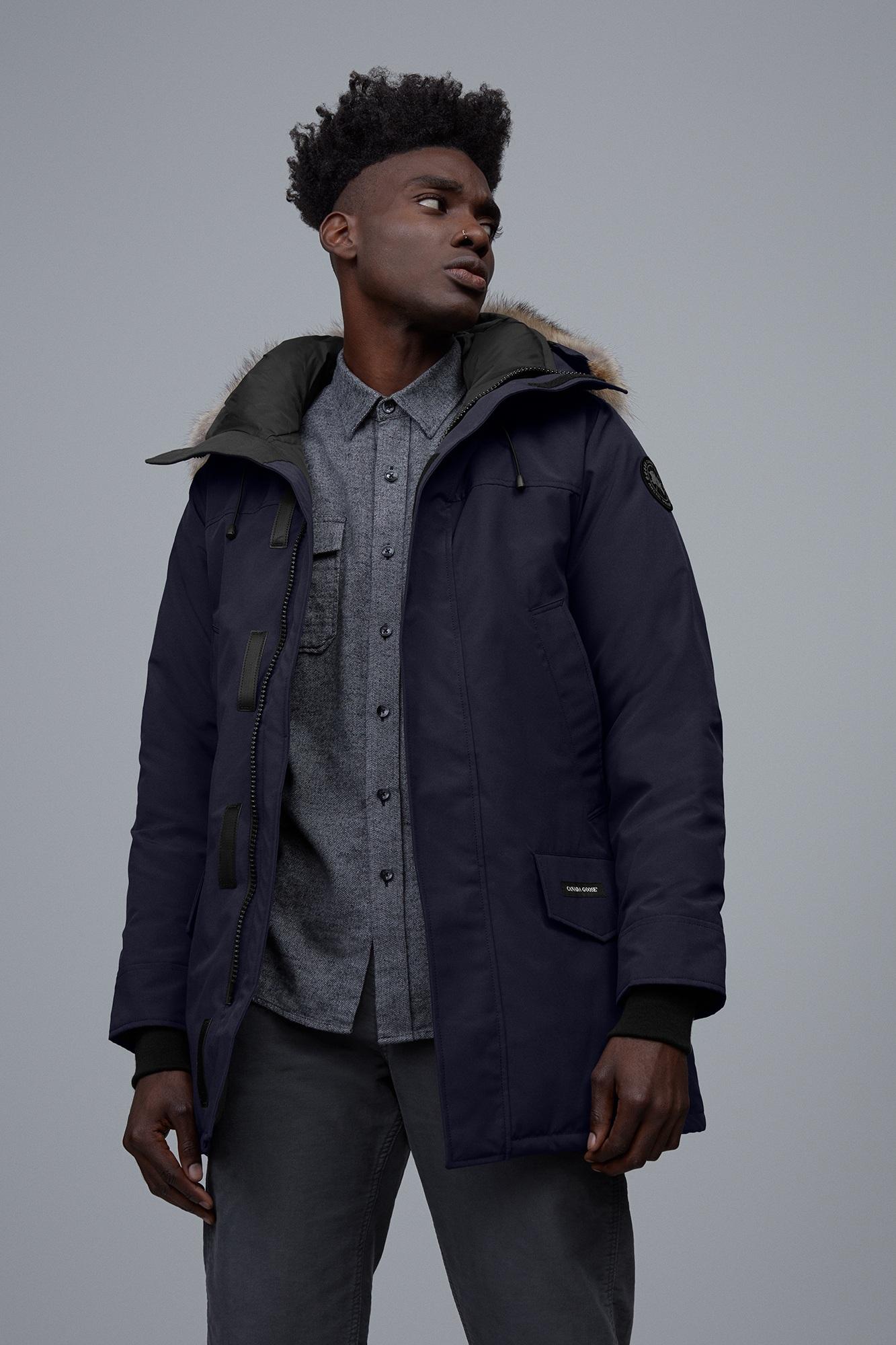 NEW CANADA GOOSE Langford ParkaJacket Black Men's Small Fur Trim