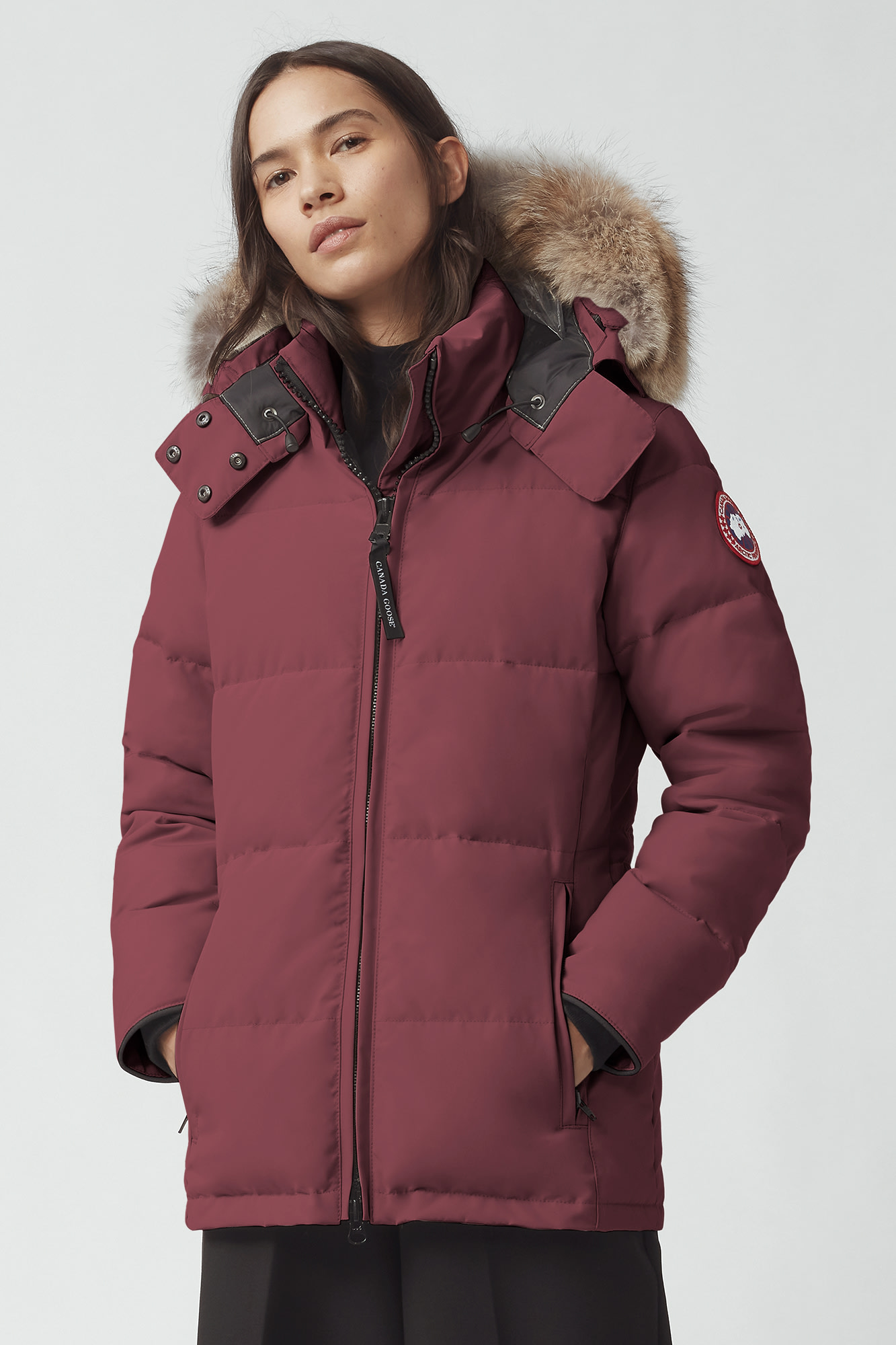 Canada Goose Parka Red Frauen Chelsea