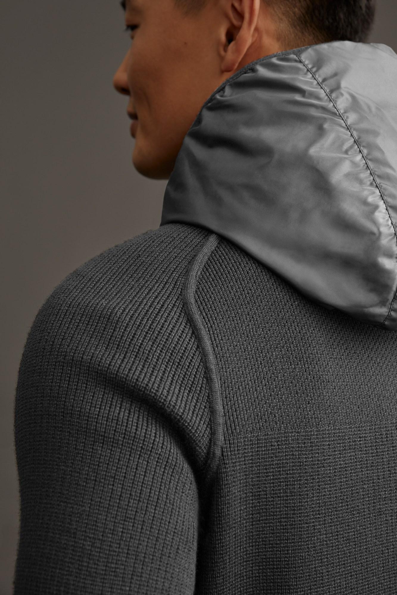 Hybridge Knit Reversible Hoody Black Label