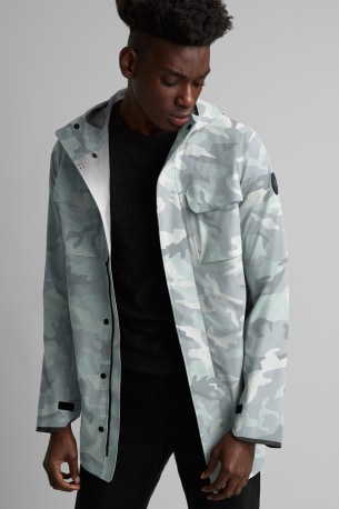 Men's Wascana Rain Jacket Black Label Print
