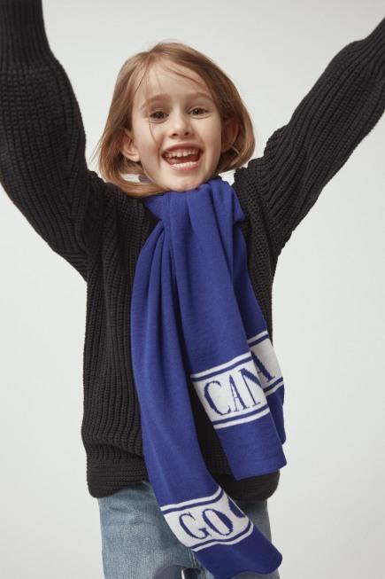 Écharpe à logo en laine mérinos pour enfants
