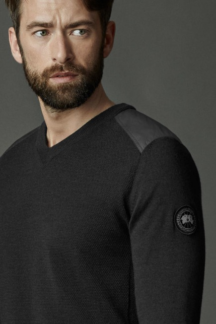 McLeod V Neck Sweater Black Label