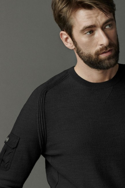 Rutledge Crew Neck Sweater Black Label