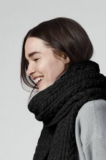 Écharpe en laine à grosses mailles