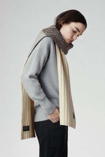 黑色罗纹围巾