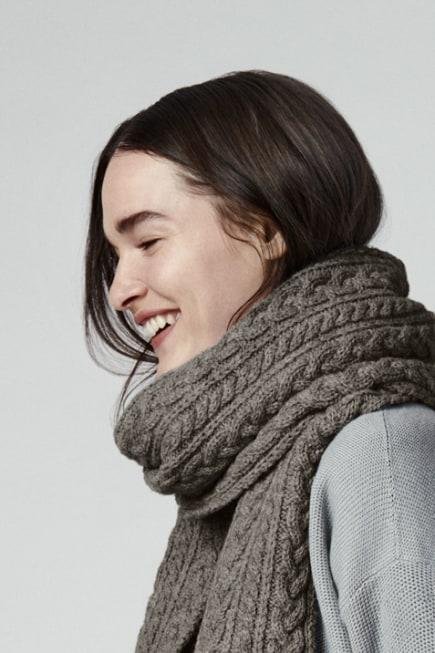 厚羊毛围巾