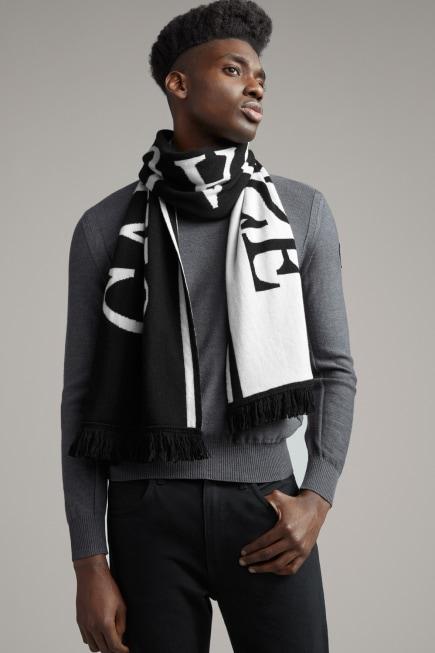 Écharpe en tricot avec logo