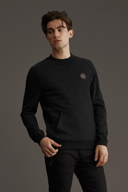 HyBridge Knit Reversible Pullover Black Label
