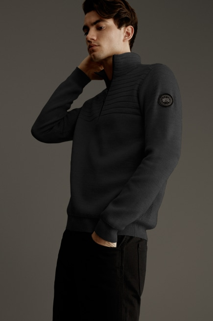 Clarke ¼ Zip Sweater Black Label