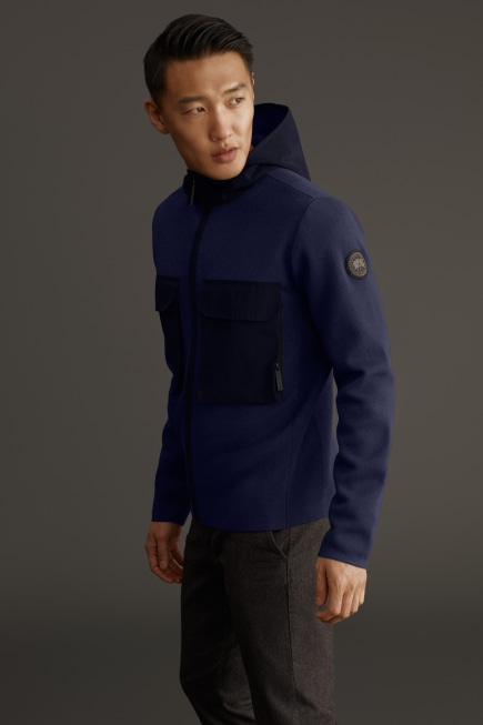Elgin Full Zip Sweater Black Label