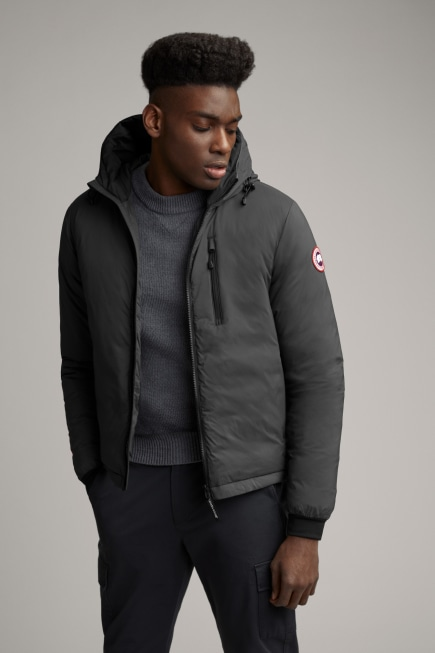 Sweat à capuche en duvet Lodge finition mat pour homme