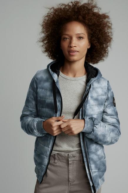 Manteau à capuchon imprimé en duvet RichmondBlackLabel pour femmes