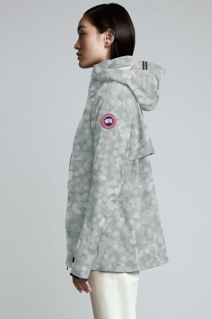 女士 Pacifica 印花防雨夹克