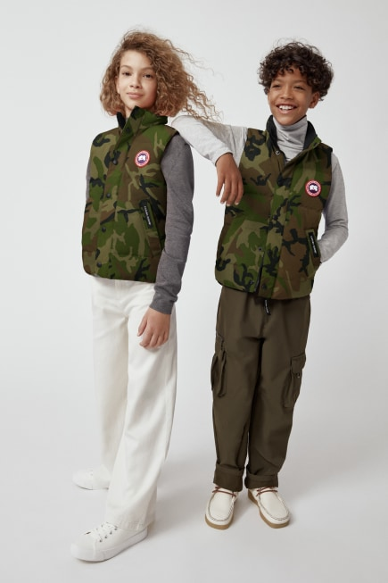 Youth Vanier Down Vest Print