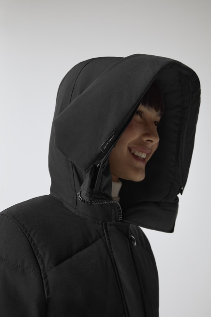 Lorette Parka with Hood Trim