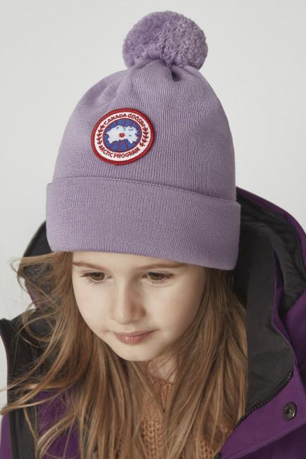 儿童美利奴羊毛绒球托克帽