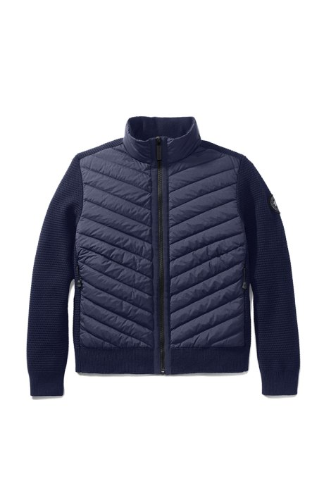 Shop the women's HyBridge Knit Down Jacket Black Label
