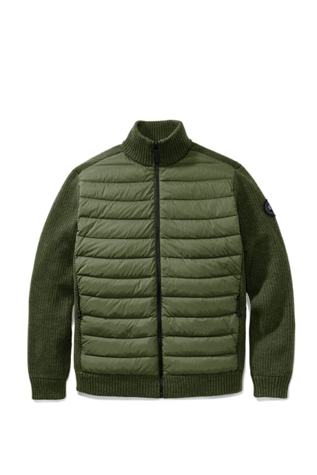 Shop the men's HyBridge Knit Down Jacket Black Label