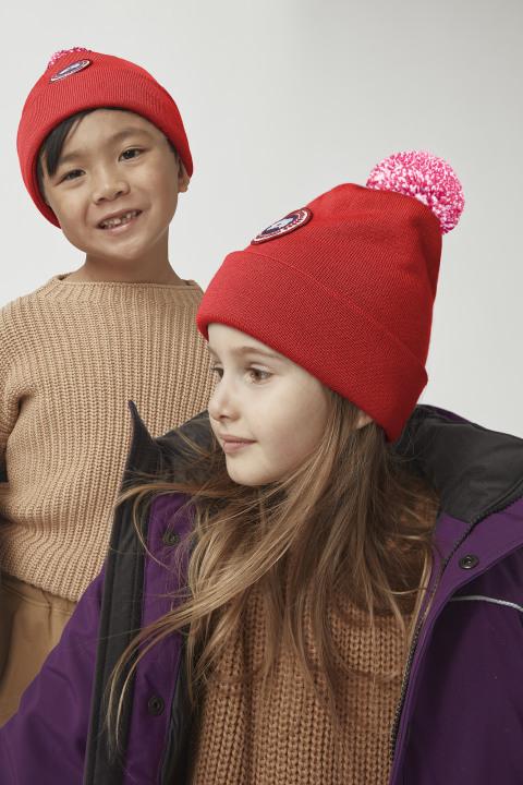Toque con pon pon in lana merino da bambino | Canada Goose