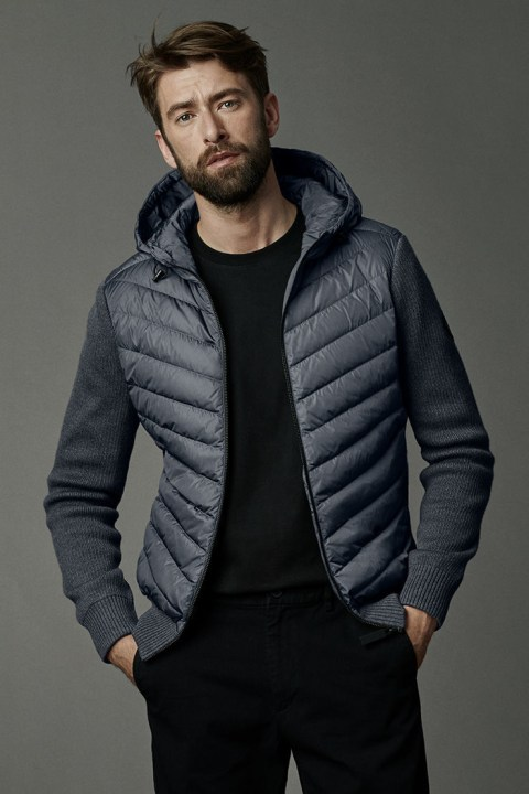 Men's HyBridge Knit Hoody Black Label | Canada Goose