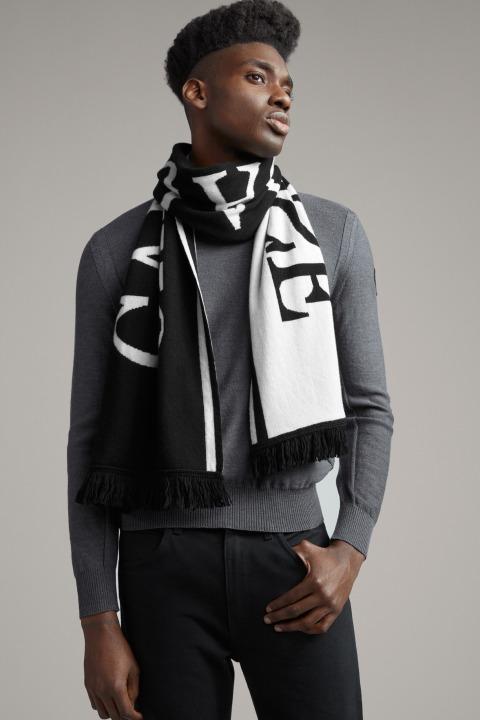 Écharpe à logo tricoté pour hommes | Canada Goose
