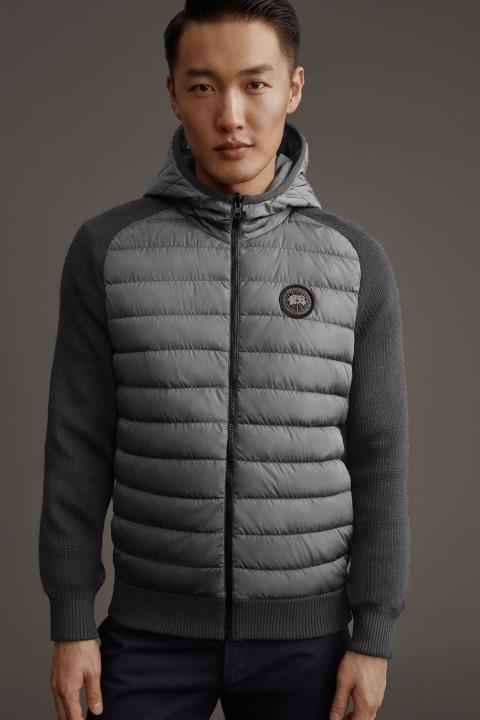 Blouson à capuche en tricot réversible HyBridge pour hommes | Canada Goose