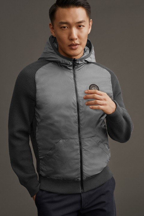 Men's HyBridge Knit Reversible Hoody Black Label | Canada Goose
