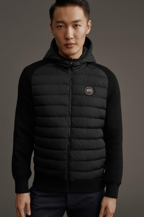 Men's HyBridge Knit Reversible Hoody Black Label | Canada Goose