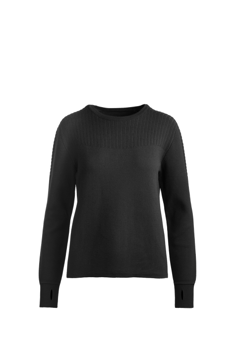 Women's Elmvale Crew Neck Sweater Black Label | Canada Goose
