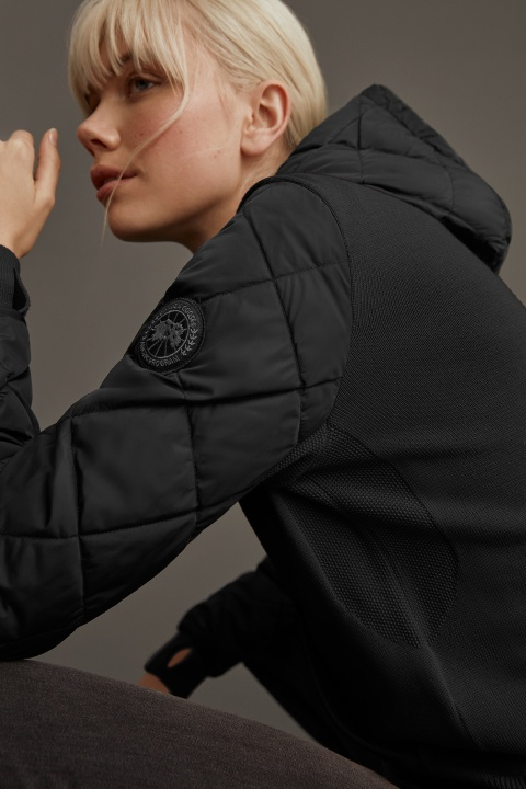 Women's HyBridge Knit Anorak Black Label | Canada Goose