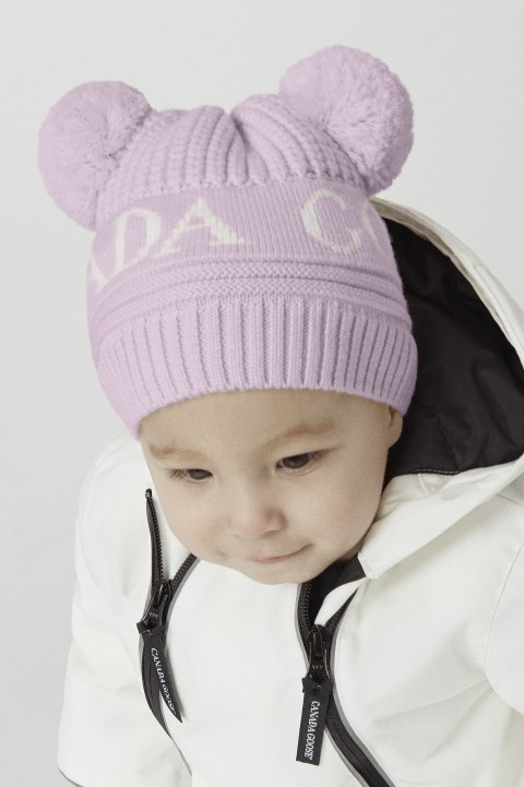 Cappello con doppio pon pon da neonato | Canada Goose